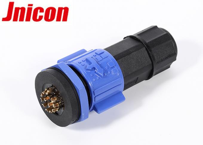 Panel Type Waterproof Data Connector IP67 5A 12 Pin Male Female Plug With Socket