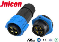 Male To Female High Current Electrical Connectors 4 Pin 30A Jnicon M25 Easy Assembly