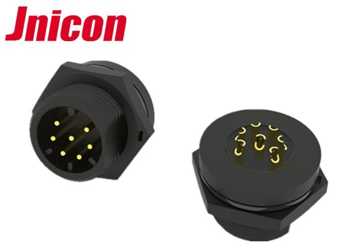 Jnicon Multi Pin Connectors Waterproof , 6 Pin Waterproof Connector Power / Signal Adapter