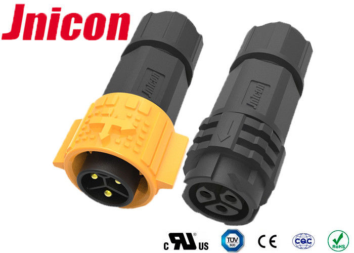 M19 Push Locking Waterproof Plastic Connector , Circular Power Connector Impact Resistance