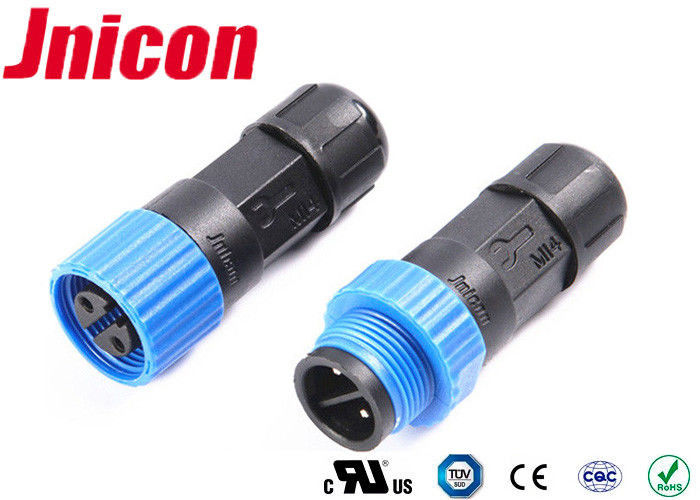 Male 2 Pin IP68 Female Plug Connector 0.3 - 1.5mm2 Cable Range Long Lifetime