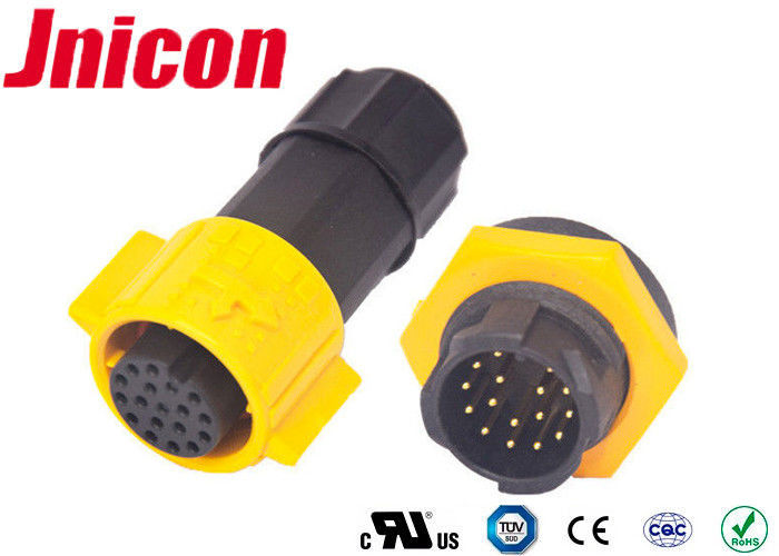 Power Signal Waterproof Circular Connectors 18 Pin For Outdoor Electronic Distribution