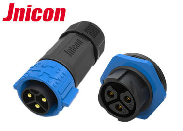 Jnicon PA66 Plastic Waterproof LED Connectors , 3 Conductor Waterproof Connectors
