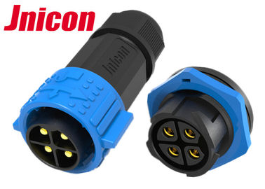 China Rear Panel Mounting Waterproof Plug Connectors , M25 4 Pin Waterproof XLR Connectors factory