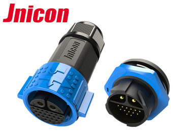 Plastic Multi Pin Circular Connectors Waterproof Plug And Socket M25 IP67