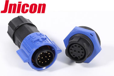 China 12 Pin Waterproof Data Connector IP67 / IP68 M19 Screw Locking Connecting factory