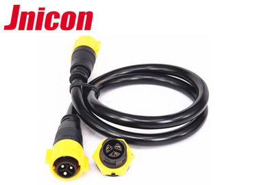 China 4 Pin Yellow IP67 Power Connector 500V 20A Soldering Type Male Female factory