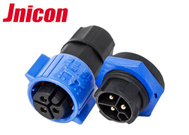 M19 3 Pole Waterproof Plug And Socket Cable Connector IP68 Wire To Board For Power LED
