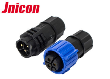 Straight LED Outdoor Waterproof Connectors 3 Pin Blue Color For LED Display