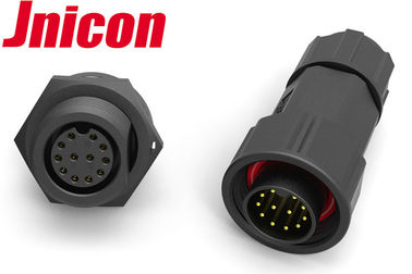 Screw Connection Waterproof Electrical Connectors 12 Pin IP68 Molded Cable Suppported