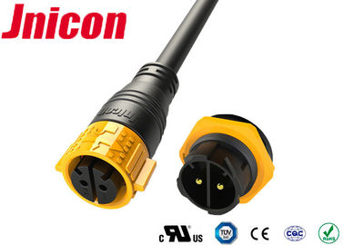 China Plastic High Current Waterproof Connectors 500V  2 Phase Cable Molded For Power factory
