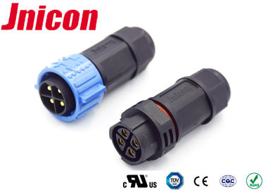 Jnicon 20 Amp 4 Pin Waterproof Male Female Connector M25 Cord To Cord IP67